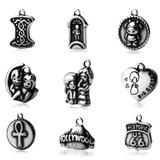 50pcs/lot Stainless Steel Charms 200+ Mix Designs MC002 VNISTAR MIX Designs