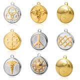 50pcs/lot Stainless Steel Gold Plated Charms 100+ Mix Designs MC003 VNISTAR MIX Designs