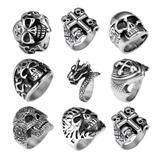 50pcs/lot Stainless Steel Men's Rings 50+ Mix Designs and Sizes MC009 VNISTAR MIX Designs