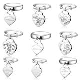 20pcs/bag Mix Designs Stainless Steel Charm Rings MC017 VNISTAR MIX Designs